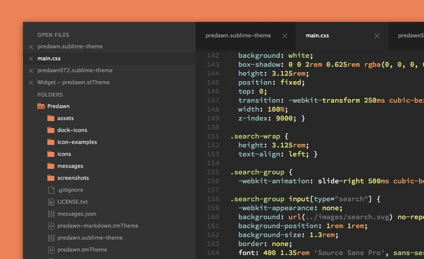 Predawn Sublime Text Theme