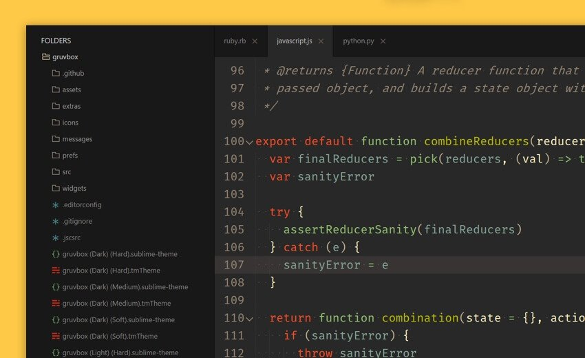 Gruvbox Sublime Theme