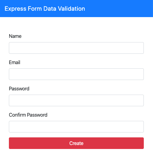 express input validation form