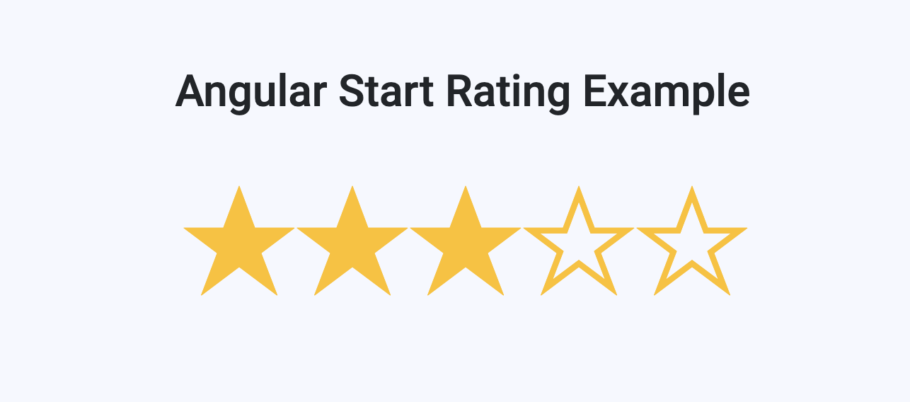 Build Star Rating in Angular