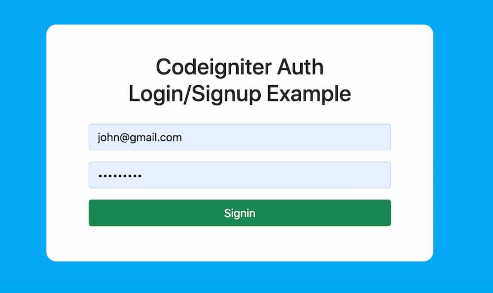 Codeigniter Authentication System