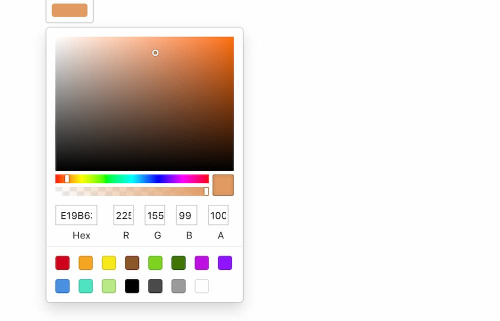 React Js Color Picker Component Tutorial Example